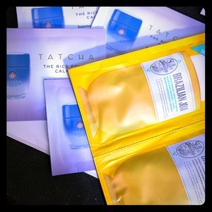4 Tatcha calming rice polish packets & JOIA SAMPLE
